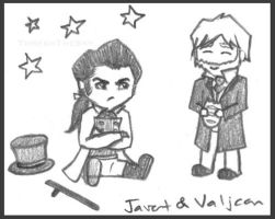 Valjean and Javert Doodle by ThreshTheSky