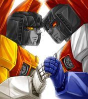 Sunstorm and Starscream by mucun