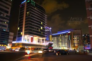 night Dubai streets by amirajuli