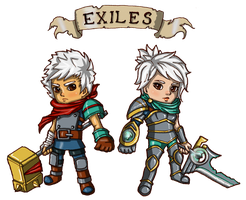 Exiles - Riven and The Kid by LadyCulfin