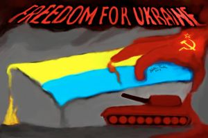 FREEDOM FOR UKRAINE-2 by basscania