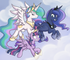 Princess Flying Session by BlacksWhites