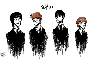 The Beatles by Rikokitten