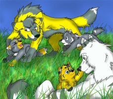 Commission: Nia's Family by Firewolf-Anime