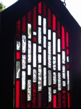 lil'church window..red by glasslinger