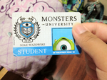 My Monsters University ID arrived today! :D by Cartuneslover16