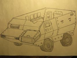 Armored Personnel Carrier Concept by KevlarKatana