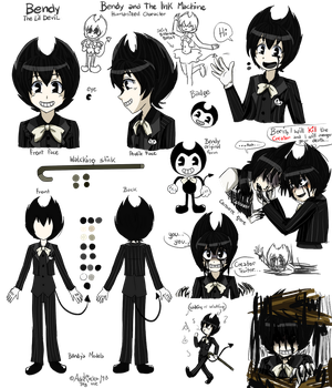 Bendy and the Ink Machine humanized character by AdriKoneko-Mizuiro