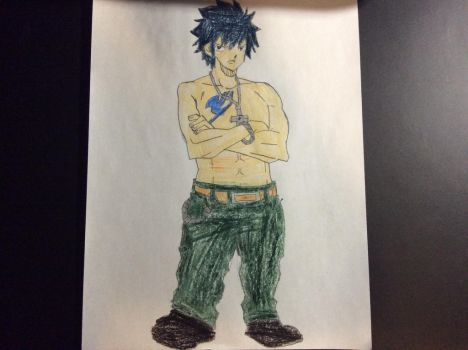 My drawing of Gray Fullbuster by SplatCrosser