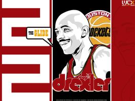 Clyde Drexler Vector by Cotovelo