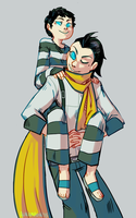 Pharos and Ryoji by alalampone