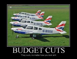 Budget Cuts Demotivational by Denodon