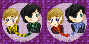 Johnlock potterlock by ThePastelHobbit