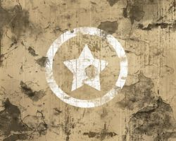 White Grunge Star Background by vectormagic