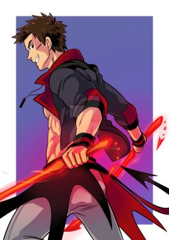 Red Energy Blades by MondoArt