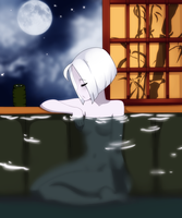 Yumi in the Hot spring by Spookie-Sweets