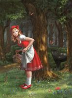 Grimm's Fairytales #1 - Little Red Riding Hood by KristinaGehrmann