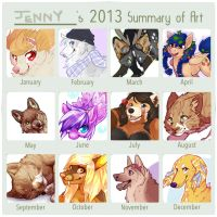 2013 Art Progress by Kiboku