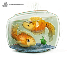 Day 750# - Pisces - Zodiac by Cryptid-Creations