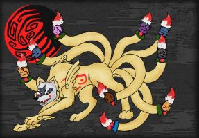 The Demonlord Ninetails by sthephanymel