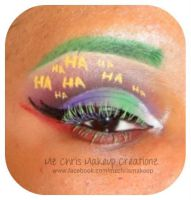 Joker eye makeup by MzChrisCreatez