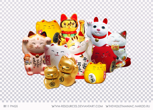 PNG PACK #10/MANEKI NEKO by tvm-resources