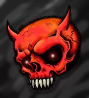Devil Skull by HorribleBlack