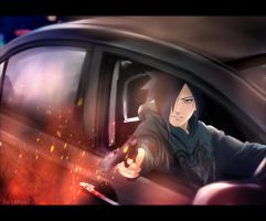 Madara Uchiha - Shooting from the car by Lesya7