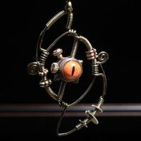 Beholder Steampunk pendant by CatherinetteRings