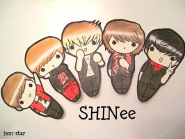 SHINee CUT-OUTS by Jam-Star