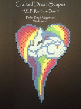 My Little Pony: Rainbow Dash - Perler Beads by Crafted-DreamScapes