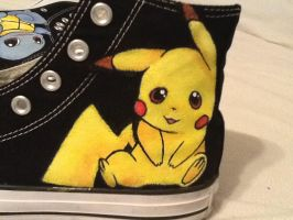 Pikachu custom shoes by BreannaKayEvans