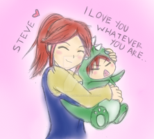 claire and little steve by berry-baranomiya