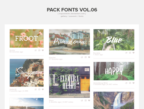 Pack Fonts Vol. 06 by xPEGASVS