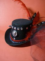 Gothic Red and Black top hat2 by AbandonedMemory