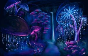 In the mushroom cave by Multisimsim