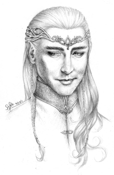 Lee Pace as Thranduil by Lomelindi88