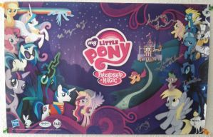 My Little Pony Comic-Con 2012 Poster SIGNED by Closer-To-The-Sun