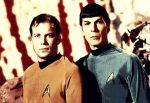Kirk and Spock Posterized by zombie-planet