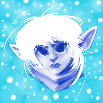 Blue elf by MadnessUnlimited