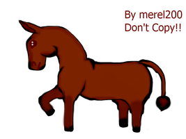 Brown Donkey Art by Merel200Howrse