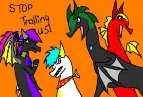 STOP TROLLING US by Hippie30199