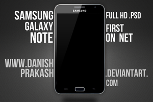 Samsung Galaxy Note [psd] by danishprakash