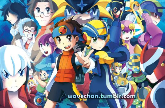 Mega Man Battle Network by suzuran