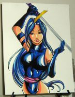 FS: Psylocke Pinup 050209 by raccoon-eyes