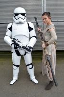 Rey and First order Stormtrooper by masimage