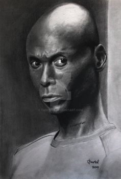 Lance Reddick - The Wire [Graphite][A4] by TarcDnB