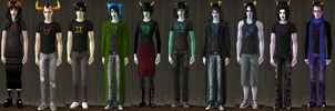 Homestuck Sims 2 COMPLETE SET MWHAHAHAHA by CheshireChaosWolf