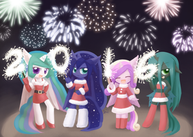 Weekly art#46 Happy New Year 2016 by HowXu