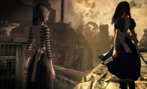 Alice Madness Returns, two sides of the same coin. by themadhattress11